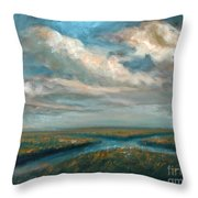 Water Cross Throw Pillow