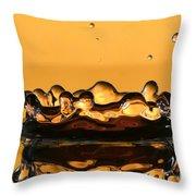 Water Crown Throw Pillow