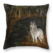 Water Dark Throw Pillow