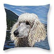 Water Dog Throw Pillow