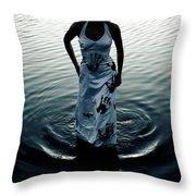 Water Dress Throw Pillow