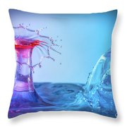 Water Drop 25 Throw Pillow