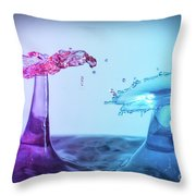 Water Drop 27 Throw Pillow