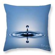 Water Drop In Blue 1 Throw Pillow