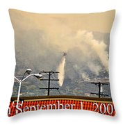 Water Drop On The Station Fire Throw Pillow