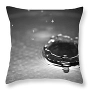 Water Droplet Crown Throw Pillow