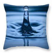 Water Droplet Jet Throw Pillow