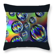 Water Droplets 4 Throw Pillow