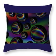 Water Droplets 5 Throw Pillow