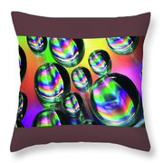 Water Droplets 6 Throw Pillow