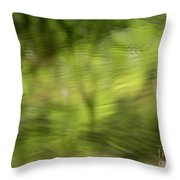 Water Drops On Reflected Pond Throw Pillow