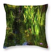 Water Dwellers Throw Pillow