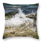 Water Elemental Throw Pillow