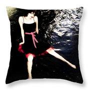 Water Faerie Throw Pillow by Scott Sawyer