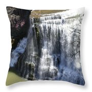 Water Fall In Tennessee  Throw Pillow