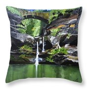 Water Fall Throw Pillow