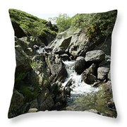 Water Flowing 4 Throw Pillow