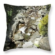 Water Flowing 6 Throw Pillow