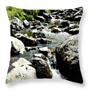 Water Flowing 7 Throw Pillow