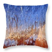 Water Fountain Abstract #63 Throw Pillow