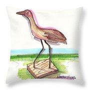 Water Fowl Motif #5 Throw Pillow by Richard Wambach