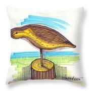 Water Fowl Motif #7 Throw Pillow by Richard Wambach