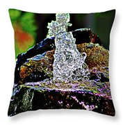 Water From Stone Throw Pillow