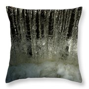 Water Frozen Throw Pillow