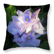 Water Hiacynth Throw Pillow
