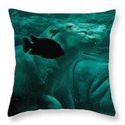 Water Horse Ballet Throw Pillow