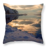 Water Ice Light And Highway 97 Throw Pillow