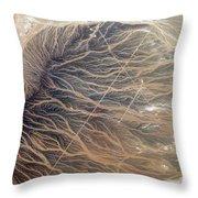Water Imprints In Desert, Oman Throw Pillow