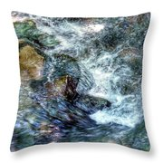 Water In Motion Throw Pillow