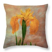 Water Iris - Textured Throw Pillow