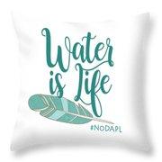 Water Is Life Nodapl Throw Pillow