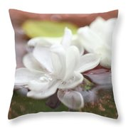 Water Lilac Throw Pillow