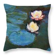 Water Lilies 1899 Throw Pillow
