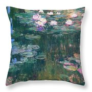 Water Lilies 1917 4 Throw Pillow
