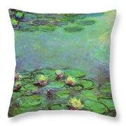 Water Lilies 1917 6 Throw Pillow