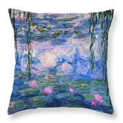 Water Lilies 1919 1 Throw Pillow
