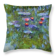 Water Lilies 1919 3 Throw Pillow