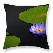 Water Lilies, Aligned  Throw Pillow