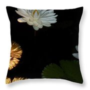 Water Lilies And Pads Throw Pillow
