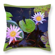 Water Lilies In Kauai Throw Pillow