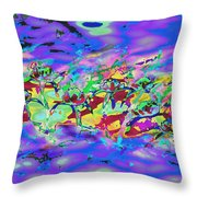 water lilies In twilight Throw Pillow