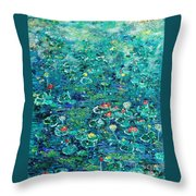 Water Lilies Lily Pad Lotus Water Lily Paintings Throw Pillow