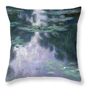 Water Lilies, Nympheas, 1907 Throw Pillow