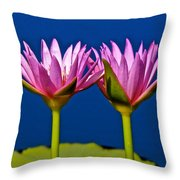 Water Lilies Touching Throw Pillow