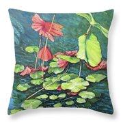 Water Lillies 1 Throw Pillow