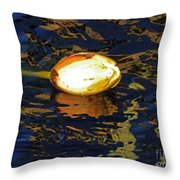 Water Lilly Bud  Throw Pillow